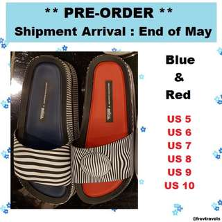 [PREORDER by 25 May] Melissa Beach Slide Sandals, Strips US 5 to 10  Eur 36 to 41/42