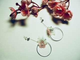 Trio pastel flowers earrings