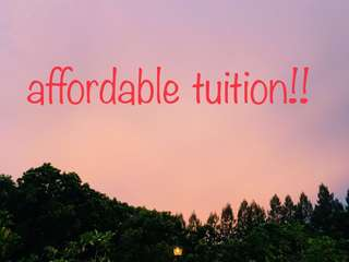 affordable & dedicated home tuition starting from $20!
