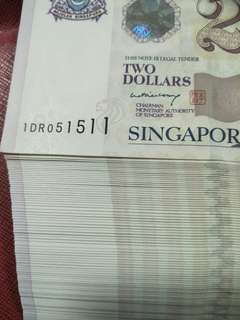 94pc of sg $2 paper notes