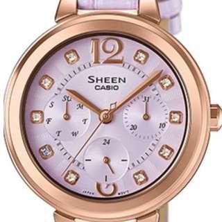 original hk$1580, now only hk$529, 100% new Casio Sheen SHE-3048PGL-6A Watch手錶