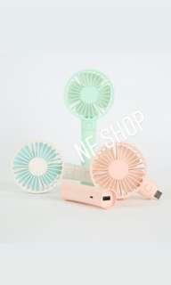韓國S-modo portable handy fan with Power Bank 2,000mAh 文青手提USB風扇連2,000mAh充電池