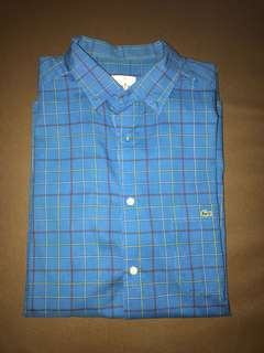 "Lacoste Play Light Blue Checkered shirt size 41"" (M)"