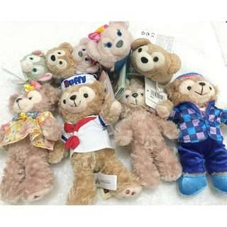 DISNEY ACCESSORIES DUFFY AND SHELLIE MAY ( DUFFIES ) THE DISNEY BEARS