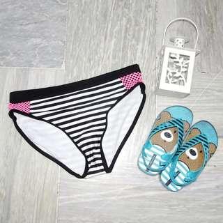 Black and White Stripes Bikini Bottom (KS006)