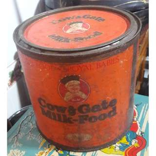 Vintage Cow & Gate tin 1950s