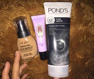 Take All Poundation, Blush on, Facial Wash