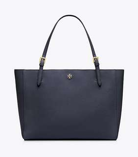【Sale】Tory burch saffiano york tote navy large
