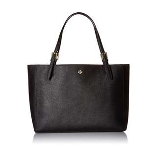 【Sale】Tory burch saffiano york tote black small