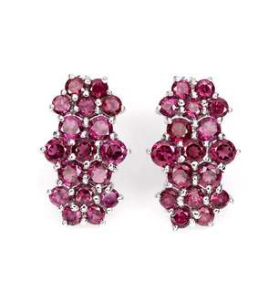 Charming Raspberry Garnet Earrings