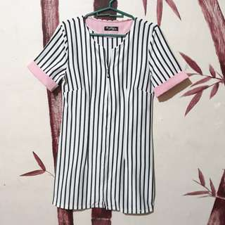 Stripes pink dress