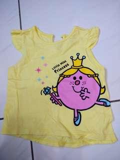 Net幼兒短袖上衣黃色,二手