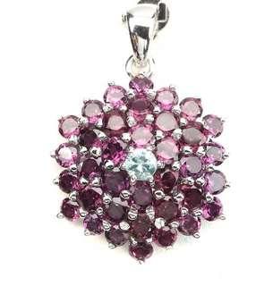 Charming Raspberry Garnet Pendant