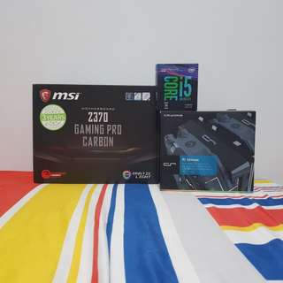 I5-8600k with msi z370 pro carbon bundle