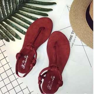 波希米亞 民族風 人字 簡約 歐美 好搭 顯白 軟底涼鞋