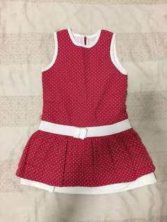 Chateau de Sable red polka dotted dress