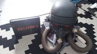 (Marked down) Killzone Helghast Helmet replica with art book.