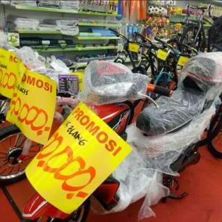 Kredit sepeda listrik dan sepeda gunung cukup bayar 199.000 proses 3 menit