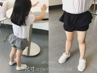 🚚 格子褲裙110cm