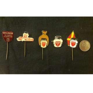 Vintage Brylcreem pins
