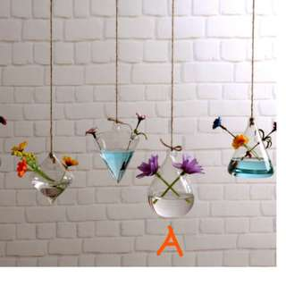 Glass Planters with holes for hanging- 2 designs