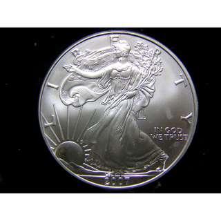 K-2007年美國大鷹國徽夕陽照耀下的自由女神1安士(Silver Ounce)大銀幣