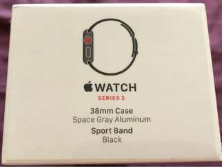 Apple Watch Series 3 (GPS + Cellular) Space Gray Aluminum Case with Black Sport Band