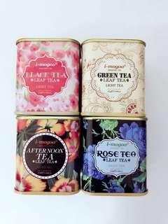 Small Vintage Tea Tin Box/Candy Box/Sugar Box