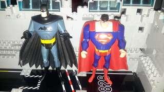 Batman and Superman Action Figures