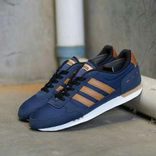 ADIDAS NEO CITY RACER ALL NAVY BROWN ORIGINAL