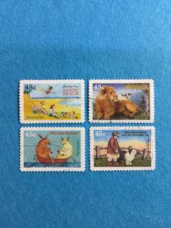 1996 Australia 50th Anniversary of Children's Book Council Awards 4 Values Used Set