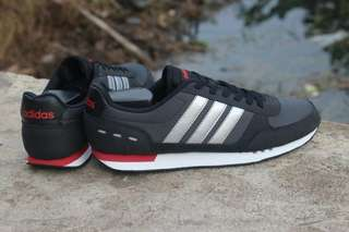 ADIDAS NEO CITY RACER DARK GREY SILVER ORIGINAL
