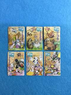 2001 Australia National Stamp Collecting Month 'Wild Babies' Complete Set of 6V Used