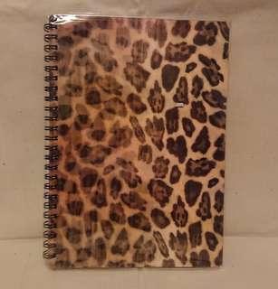 豹紋立體A5線圈筆記本