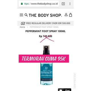 #mausupreme foot Spray peppermint
