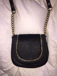Marciano Leather Crossbody w/Gold Detailing