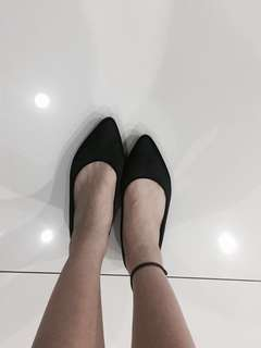 Summit Black Satin Flats #Ramadan50