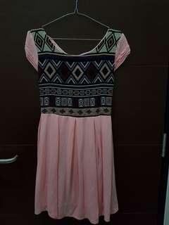 Pink dress pesta formal casual