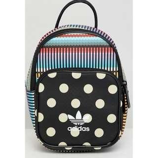 adidas Originals X Farm Printed Mini Backpack 迷你後背包 點點 彩虹 豹紋