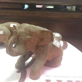 手工木雕大象
