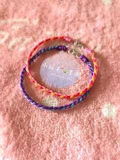 小玩子🍡 925純銀 簡約四線款 蠶絲蠟線 手環 腳環 ✨可客製✨