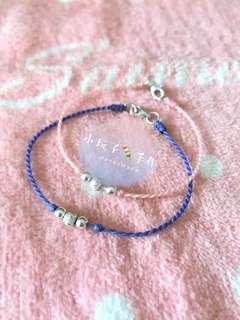小玩子🍡 925純銀 轉錢珠 銀珠 巴西蠟線 手環 腳環✨可客製✨