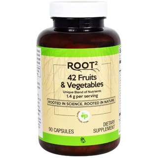 Vitacost ROOT2 42 Fruits & Vegetables -- 1.4 g per serving - 90 Capsules (45 servings) Made in America. S$22.00