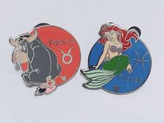 [交換優先] 迪士尼 小熊維尼 伊唷 美人魚 pin