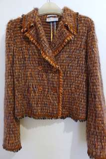 Missoni Tweed fringe double breasted Jacket