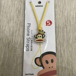 Miniso Paul Frank phone straps yellow