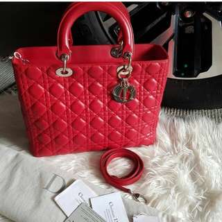 👉MURAH -  LADY DIOR Large Red Shw 2009 #the