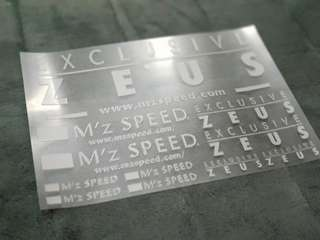 Original japan decals Mzspeed Zeus