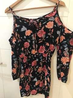 Flowers mini dress