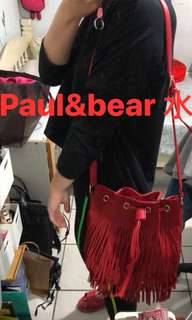 🚚 Paul&bear流蘇水桶包#一百元好物